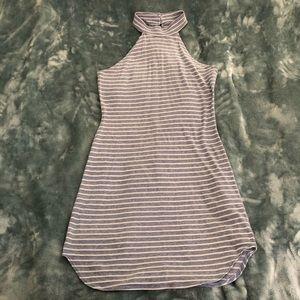 La Hearts blue & white stripe halter dress